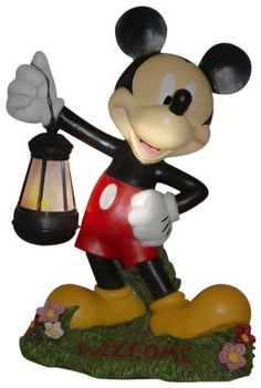 Woods International 4021 Mickey Mouse Holding Lighted Lantern, 15-Inch by 11.375-Inch by 7.625 by Woods International. Save 32 Off!. $36.75. Welcome printed on the base of the statue. Battery not included requires 2 aa batteries. Durable polyresin outdoor statue of mickey mouse holding a lighted lantern. Lights for 5 hours. Equiped with led timer light. Durable polyresin outdoor statue of Mickey Mouse holding a lighted lantern. Fully painted in bright colors. Lantern is lit with a batter...