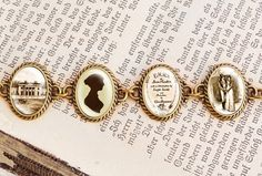 Jane Austens Emma  Literature Bracelet by wiccanstyle on Etsy, €22.50
