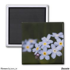 Flowers 2 Inch Square Magnet