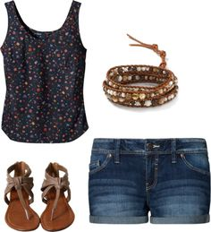 """Flower shirt"" by alyssakrause on Polyvore"
