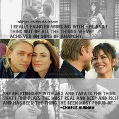 """""I really enjoyed working with her and I think out of all the things we've achieved on sons of Anarchy, the relationship with Jax and Tara is the thing…"""