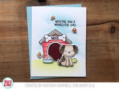 Dog-gone Clear Stamps   Avery Elle Cute Little Puppies, Dog Cards, Clear Stamps, Create, Day