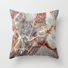 Marble Texture 84  Throw Pillow by Robin Curtiss - $20.00