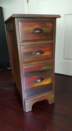 Love the colors Chalk Paint Furniture, Hand Painted Furniture, Funky Furniture, Refurbished Furniture, Repurposed Furniture, Unique Furniture, Furniture Projects, Furniture Makeover, Painted Chairs
