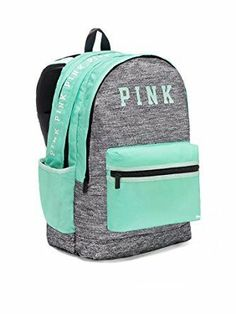 New with tags Victoria's Secret pink campus backpack. In mint and grey color Great for Christmas present Mochila Victoria Secret, Victoria Secret Backpack, Cute Backpacks For School, Girl Backpacks, Trendy Backpacks, Victoria Secret Parfum, Fashion Bags, Fashion Backpack, Fashion Outfits