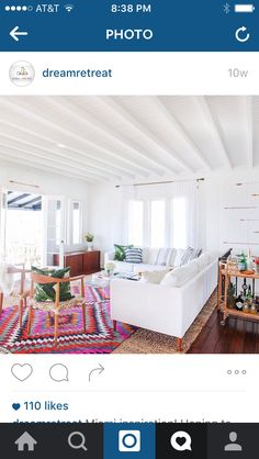 Love the amazing simplicity and vibrant colors of the rug in this room
