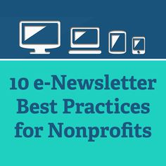 10 e-Newsletter Best Practices for #Nonprofits