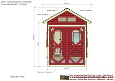 home garden plans: L102 - Chicken Coop Plans Construction - Chicken Coop Design - How To Build A Chicken Coop Building A Chicken Run, Walk In Chicken Coop, Easy Chicken Coop, Diy Chicken Coop Plans, Chicken Coop Designs, Chicken Runs, Tropical House Design, Home Improvement, Construction