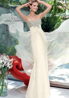 Elegant+Column+Beaded+Bodice+Floor+Length+Prom/Evening+Dress+By+Alyce+Claudine+6070