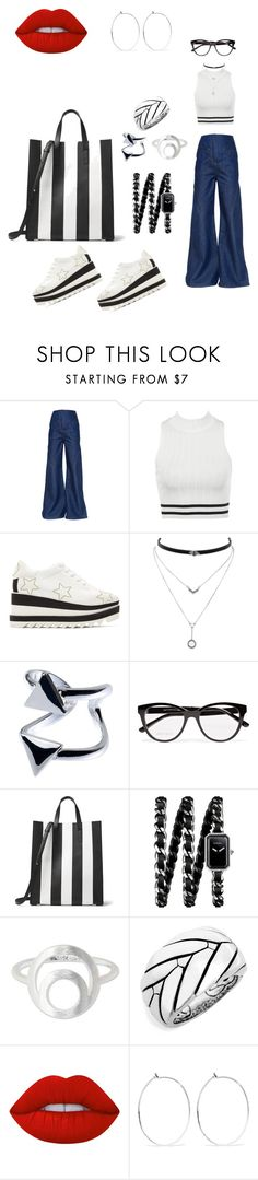 """Sem título #171"" by anthony-marcos ❤ liked on Polyvore featuring Esteban Cortazar, STELLA McCARTNEY, Jessica Simpson, Jimmy Choo, Michael Kors, Chanel, NOVICA, John Hardy, Lime Crime and Catbird"