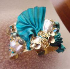 Serena Di Mercione Creations CUFF (whit Shibori silk ribbon)