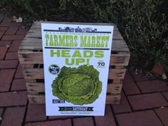 Farmer's Market Heads Up Lettuce Letterpress by IglooLetterpress, $25.00  SARAH. They did a whole line with puns on them.