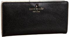Amazon.com: Kate Spade Mikas Pond Stacy Wallet,Black,one size: Shoes $100