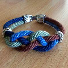 16 strand Kumihimo bracelet. Worked on a round Hamanaka disc by Sue Stevenson