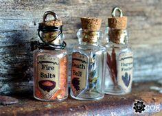 3 Necklaces - The Elder Scrolls: You choose any 3 Skyrim Potion Ingredients via Etsy