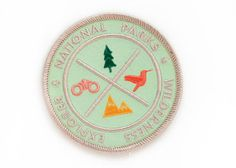 Don't forget your Explorer's Patch with your national parks explorer's guide. No hike is complete without one. Iron on patch MADE IN USA Cool Patches, Pin And Patches, Iron On Patches, National Park Patches, National Parks, Scout Toujours, Wilderness Explorer, Merit Badge, Patch Design