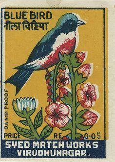 Indian matchbox label by Shailesh Chavda, via Flickr