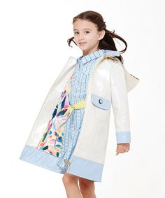Ivory & Kentucky Blue Floral Dahlia Coat - #zulilyfinds