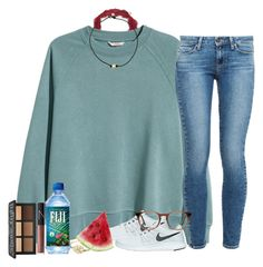"""✌"" by southernstruttin ❤ liked on Polyvore featuring H&M, NIKE, Paige Denim, Alison & Ivy, Ace, NARS Cosmetics and Kat Von D"
