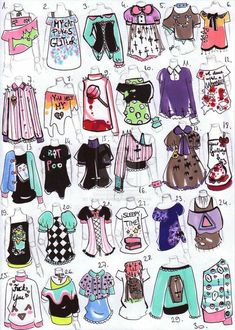 New fashion design drawings outfits inspiration ideas Character Outfits, Character Art, Pastell Goth Outfits, Chibi, Drawing Anime Clothes, Drawings Of Clothes, Outfit Drawings, Fashion Design Drawings, Drawing Base
