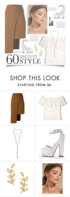 """""""Dress to impress"""" by infinite-sea ❤ liked on Polyvore featuring Cushnie Et Ochs, Hollister Co., Charlotte Russe, Tai, LULUS, Estée Lauder, asymmetricskirts and 60secondstyle"""