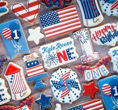 Kyle Reese, Birthday Cookies, Full Set, 4th Of July, Happy, Desserts, Instagram, Sugar Cookies, Flags