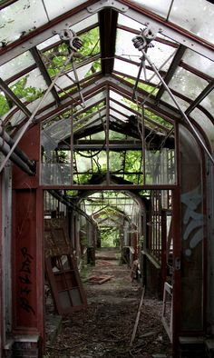 At the abandoned Boyce Thompson Agricultural Museum in Yonkers, NY