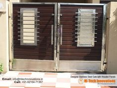 Stainless Steel Gates Manufacturer in Chandigarh & Mohali Home Gate Design, House Main Gates Design, Steel Gate Design, Front Gate Design, Main Door Design, Home Building Design, House Front Gate, Door Design Images, Stainless Steel Gate