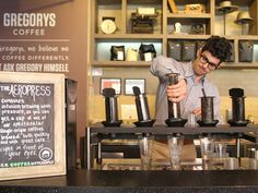 Nice #Aeropress brew station for iced coffee! Great idea for a Vietnamese iced coffee!