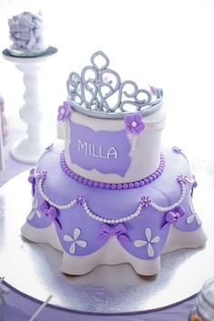 16 Sofia the First Birthday Party Ideas . These 16 Sofia the First Birthday Party Ideas are the perfect inspiration for your royal affair. Get ideas for Sophia The First Birthday Party Ideas, Sofia The First Cake, Princess Sofia The First, First Birthday Cakes, Birthday Cake Girls, First Birthday Parties, First Birthdays, 3rd Birthday, Birthday Ideas