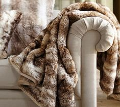 Faux Fur Throw - Caramel Ombre | Pottery Barn This blanket is the shit! I love it soooooo much! Best Blanket Ever!