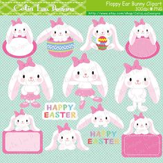 Easter clipart, Easter Bunny clipart, Floppy Ear Bunny clipart, Girl Bunny, Ballerina Bunny, Ballet