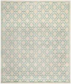 Safavieh Hand-knotted Mosaic Cream/ Aqua Wool/ Viscose Rug x - Overstock™ Shopping - Great Deals on Safavieh - Rugs Geometric Area Rug, Beige Area Rugs, Modern Wool Rugs, Safavieh, Viscose Rug, Beautiful Rug, Colorful Rugs, Mosaic, Handcrafted Tile