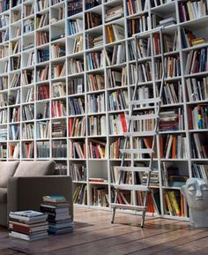 Bookcase / storage wall STUDIMO by Interlübke #books .. that's alot of books...