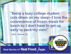 Individual entrees are perfectly convenient for lunchtime! #RealFoodFrozen #MarchFrozenFoodMonth