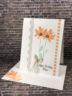 Super cute and easy card. See what this card fits into on my blog! #stampinbj.com
