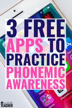 Teaching phonemic awareness can be fun and engaging in the classroom! Whether you teach preschool, kindergarten or grade, these apps are a great addition to your practice time. Bonus: they are all free! What a perfect center activity. Teaching Letters, Teaching Phonics, Phonics Activities, Teaching Strategies, Teach Preschool, Listening Activities, Kindergarten Reading, Teaching Reading, Preschool Kindergarten