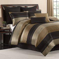 Hudson Comforter Set in Black