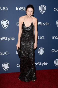 Actress Caitriona Balfe attends the 2014 InStyle and Warner Bros. 71st Annual Golden Globe Awards Post-Party on January 12, 2014 in Beverly ...