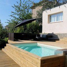 34 meilleures images du tableau piscine semi enterree - Amenagement piscine semi enterree ...