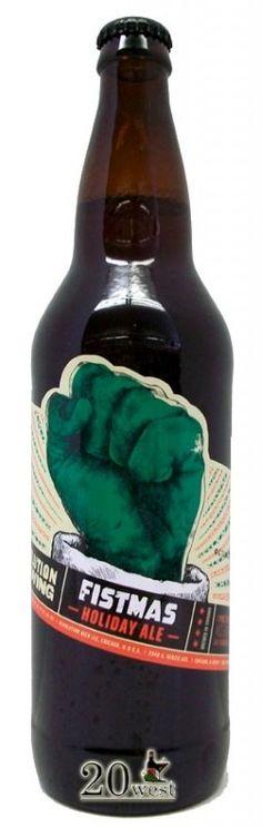 Cerveja Revolution Fistmas Ale, estilo Spice/Herb/Vegetable Beer, produzida por Revolution Brewing , Estados Unidos. 6.1% ABV de álcool.