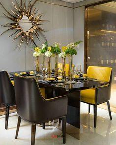 158 отметок «Нравится», 2 комментариев — OUTSOURCESOL (@zebraskindecor) в Instagram: «High gloss modern dining area»