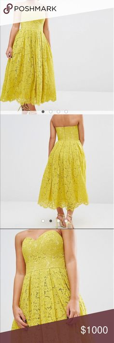 DISO ASOS lace sweetheart bandeau midi dress Looking for this exact dress for ASOS in a size 2-4 possibly 6 please tag me need ASAP for my sisters wedding ASOS Dresses Midi