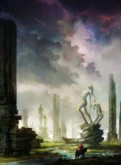 As ilustrações de cenários de fantasia e ficção científica de Jorge Jacinto