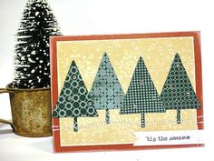 I love Heather's rustic style. Background Basics: Circles; Winterberry die