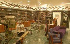 room full of guns