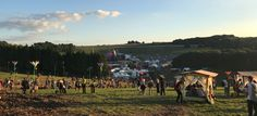 The view from the top of Hippy Highway at Boomtown Fair, over the campsites!