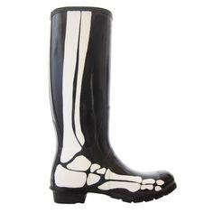 Skeleton Rainboots Black, $148, now featured on Fab.