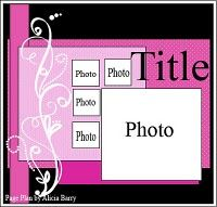 I like the 4 small square for photos and the big one. simple and cute, the way I like it.