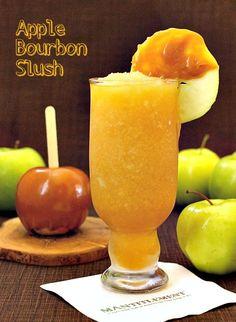 Frozen Apple Bourbon Slush - still a Fall drink, just throw it in the blender! www.mantitlement.com